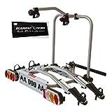 Fahrradträger Anhängerkupplung für 2 Elektrofahrräder Tech Pro Elektrobike + ELEMENT TRADE Sticker