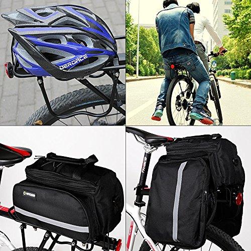 ZOOYAUE - Mountainbike Gepäckträger, Einstellbar mit Reflektor